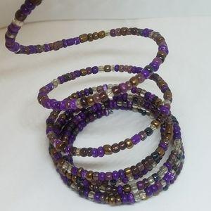 Purple, roll-on bracelet